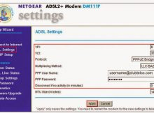 Club telco Australia ADSL settings netgear