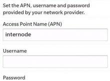 InterNode APN Settings for Blackberry