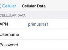Primus APN Settings for iPhone