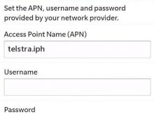 Telstra APN Settings for Blackberry