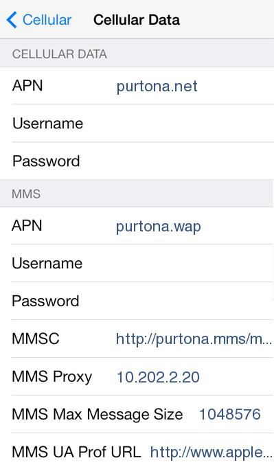 Crazy John's APN Settings for iPhone 5 6 6S 4S / iPad