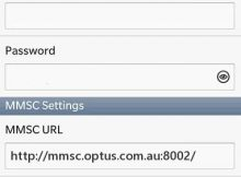 iiNet MMS APN Settings for Blackberry