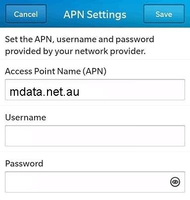 ALDImobile APN Settings for Blackberry