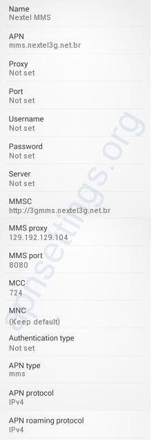 Configurar MMS de Nextel no Android Brasil