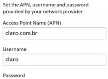 Configurar APN da Claro Brasil no Blackberry