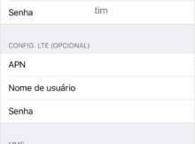 Configurar Internet TIM 4G no iPhone