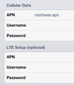 Chatr APN Settings for iPhone 4 5 6 6S iPad