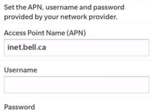 Virgin Canada APN Settings for Blackberry