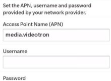 Videotron 4G APN Settings for Blackberry