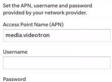 Videotron 4G APN Settings for Blackberry