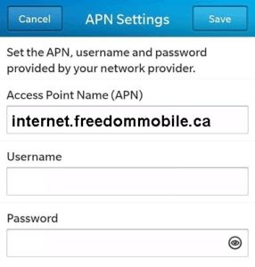 Freedom Mobile LTE APN Settings for Android - 4G LTE APN Canada