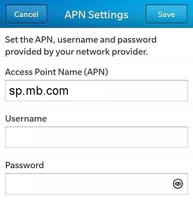 Public Mobile APN Settings for Blackberry