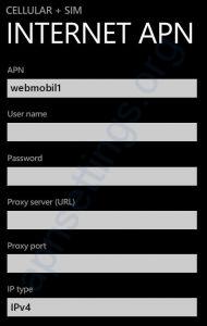 Tchibo APN Einstellungen für Windows Phone