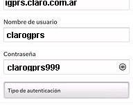 Configuración de APN Claro Argentina para Blackberry