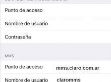 Configurar APN Claro Argentina en iPhone ipad