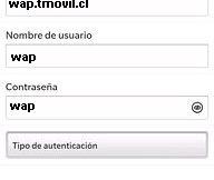 APN Movistar Chile para Blackberry