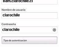 Configurar APN Claro Chile para Blackberry