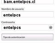 Configurar APN Entel Chile para Blackberry
