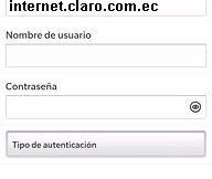 Configurar APN de Claro Ecuador para Blackberry