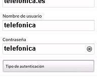 APN de Movistar España para Blackberry