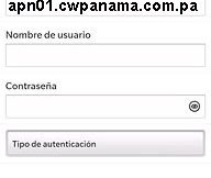 APN de Blackberry Cable and Wireless Panama