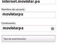 APN de Blackberry Movistar Panama