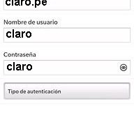 APN de Claro Peru para Blackberry
