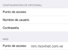 APN de Movilnet Venezuela para iPhone
