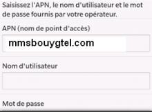 APN Bouygues pour Blackberry 10