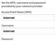 Configuration Internet Mobilis pour Blackberry