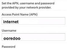 Configuration Internet Ooredoo Algérie Blackberry