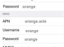 Configuration Internet Orange pour iPhone France