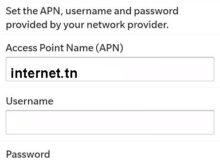 Configuration Internet Tunisie Telecom Blackberry