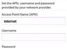 Idea APN settings for blackberry curve 8520