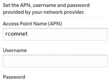 Reliance APN Settings for Blackberry