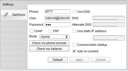 MTS Data Settings