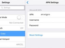 Aircel LTE APN Settings for iPad