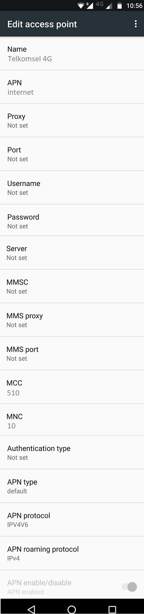 Setting 4G APN Telkomsel di Android