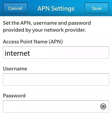 Setting APN Indosat Ooredoo di Blackberry