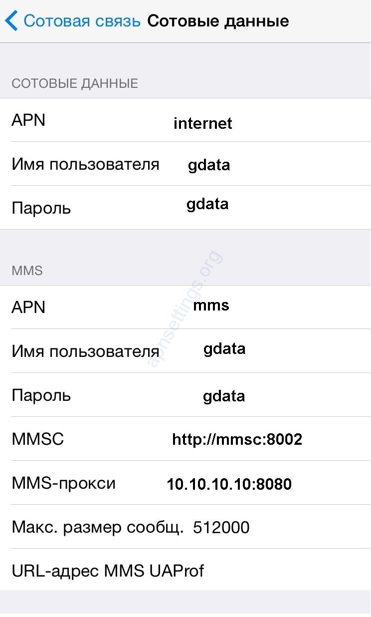 Настройка интернет МегаФон для iPhone