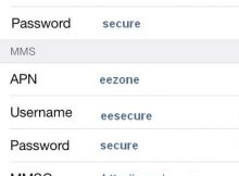 EE APN settings for iPhone 4 4S 5 5C 6 6S Plus
