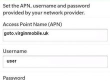 Virgin UK APN Settings for Blackberry 10 9900 9700 Bold