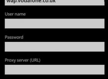 Vodafone UK APN Settings for Windows Phone