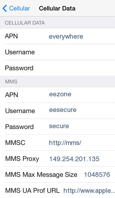 Asda APN Settings for iPad iPhone