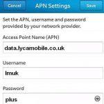 Lycamobile UK Internet Settings for Android - 4G LTE APN UK