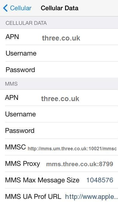 FreedomPop UK APN Settings for iPhone iPad