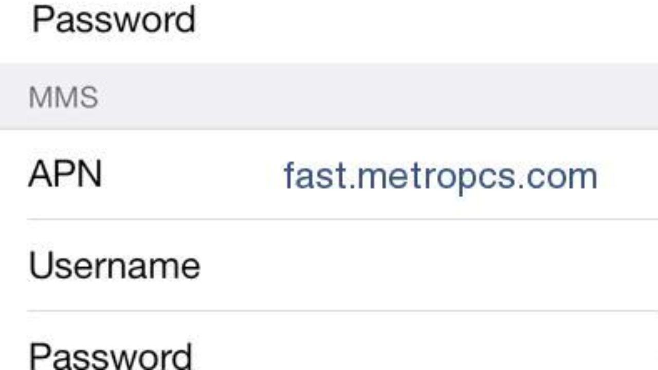 MetroPCS APN Settings for iPhone - 4G LTE APN USA