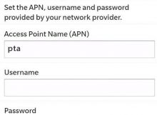 AT&T APN Settings for Blackberry 10 Bold Storm