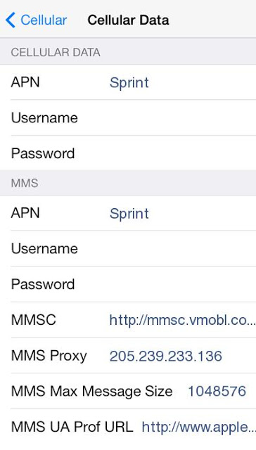 Virgin Mobile US APN Settings for iPhone - 4G LTE APN USA