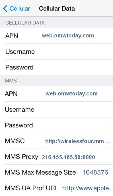 Family Mobile APN Settings for iPhone 6 5 4S iPad
